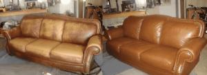Перетяжка кожаной мебели Киев