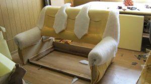 заменить обшивку дивана
