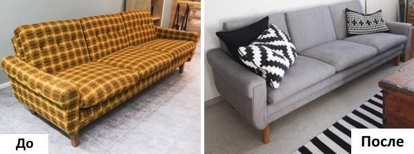 как поменять обивку дивана в домашних условиях