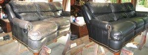 перетяжка ремонт кожаной мебели