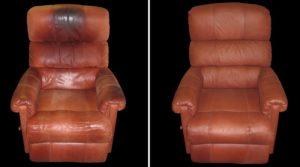 ремонт мебели из кожи