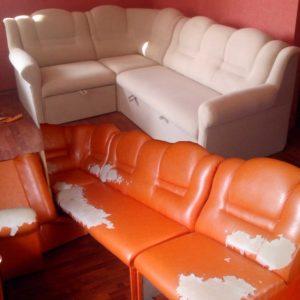 перетянуть мебель тканью