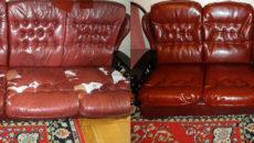 ремонт кожаной мебели Киев
