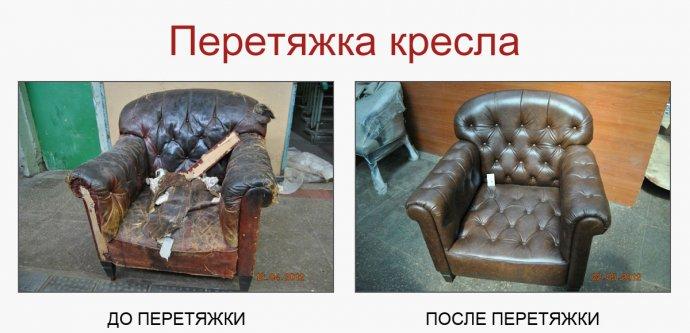 перетяжка кресла Киев